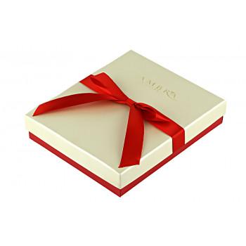 Cutie alb sidefat pentru bijuterii