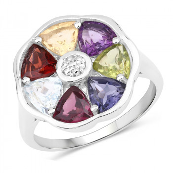 Inel din argint si pietre semipretioase
