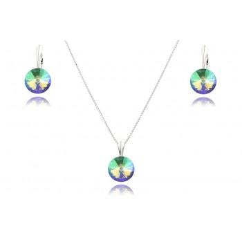 Set cristale Swarovski Paradise Shine si argint