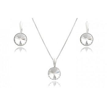 Set din argint si Swarovski Crystal Clear