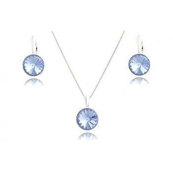 Set din argint si Swarovski Light Sapphire