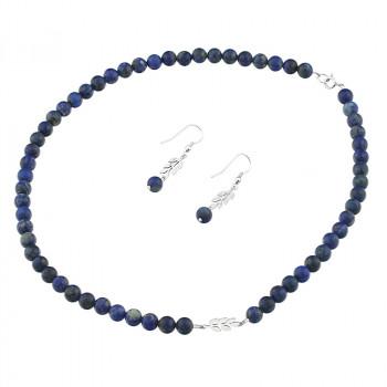 Set din lapis lazuli si crengute din argint
