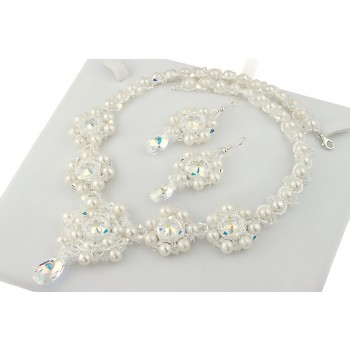 Set exclusivist din perle cultura si cristale Swarovski - Angelina