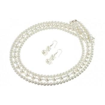 Set multisir perle de Mallorca, cristale Swarovski si argint
