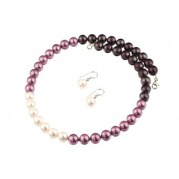Set perle de Mallorca in trei culori si argint