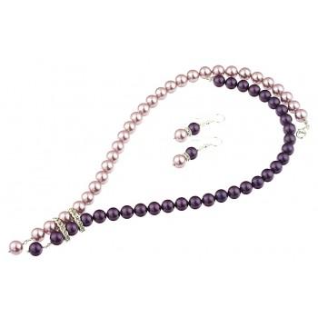 Set perle de Mallorca mov-lila