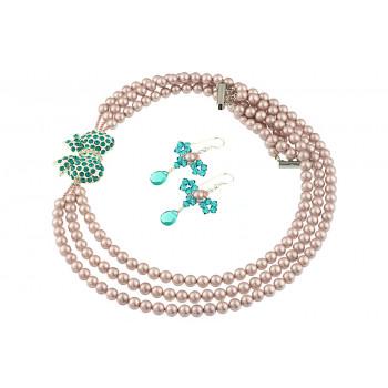 Set perle de Mallorca si fundite din cristale Swarovski