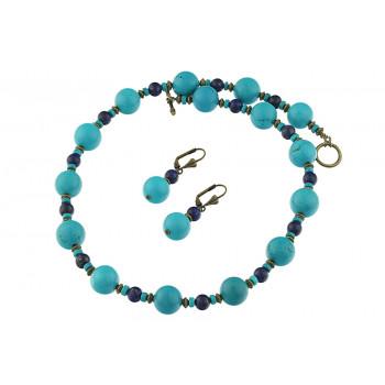 Set turcoaz natural si lapis lazuli