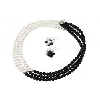 Set Yin-Yang din perle de cultura si onix