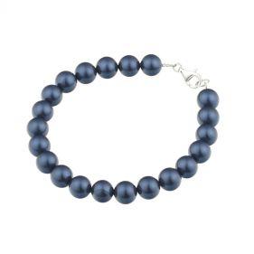 Bratara din perle de Mallorca albastre