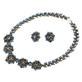 Set exclusivist din cristale Swarovski Metal Blue