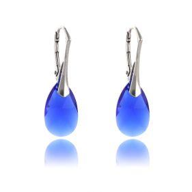 Cercei cristale Swarovski lacrima Majestic Blue