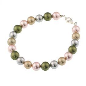 Bratara din perle de Mallorca multicolore