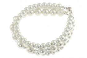 Bratara perle de Mallorca, cristale Swarovski si argint