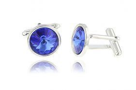 Butoni din argint si Swarovski Sapphire