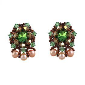 Cercei exclusivisti din perle naturale si cristale Swarovski  Scarabaeus