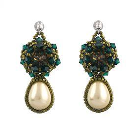 Cercei din cristale Swarovski, perle Mallorca lacrima si argint