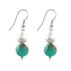 Cercei din perle naturale si jasp