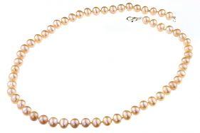 Colier din perle naturale crem 7 - 8 mm A