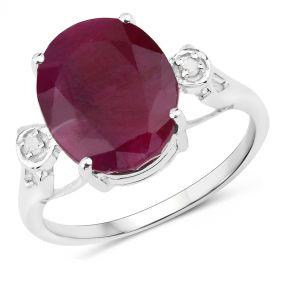 Inel exclusivist din argint, rubin indian si diamante