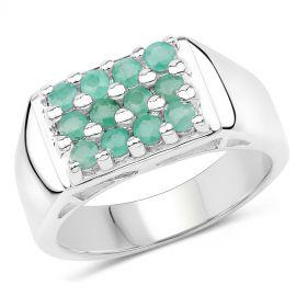 Inel din argint si smarald
