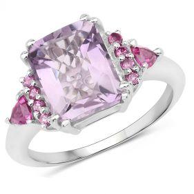 Inel din argint si ametist ametist roz