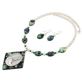 Set Camee, sidef Paua si perle naturale