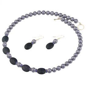 Set perle de Mallorca, Bluestone si argint