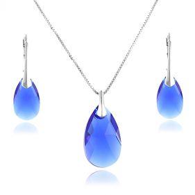 Set cristale Swarovski lacrima Majestic Blue