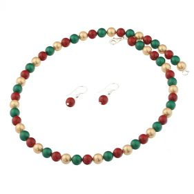 Set din perle de Mallorca multicolore