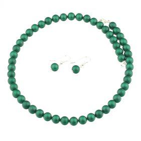 Set din perle de Mallorca verzi