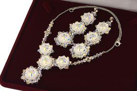 Set exclusivist din cristale Swarovski Aurora si argint