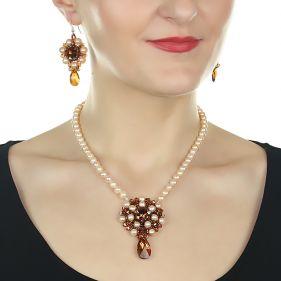Set exclusivist din perle naturale si cristale Swarovski