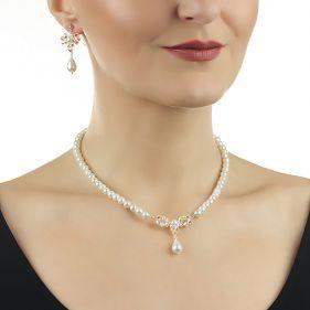 Set fundite din cristale Swarovski si perle de Mallorca