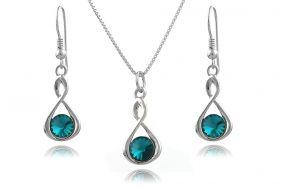 Set Infinity din argint si cristale Swarovski