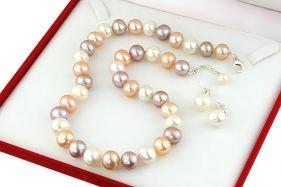 Set perle de cultura 10 - 11 mm, calitate AA+ si argint